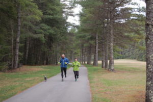 Joggers along road at Beaver Creek Campground, Watoga State Park